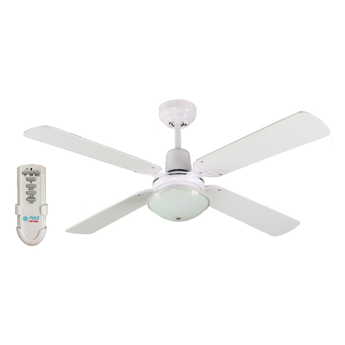 Bunnings Gu10 Ramo 48 Inch Ceiling Fan With Light And Remote Control