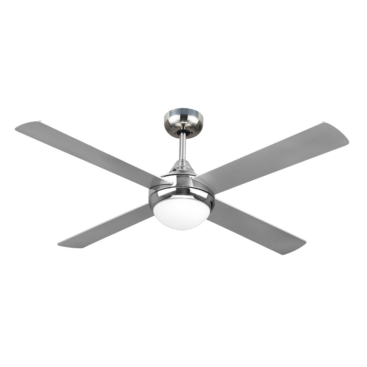 Chrome Ceiling Fans Without Lights Revolve 48 Inch Ceiling Fan Brushed Chrome With Light