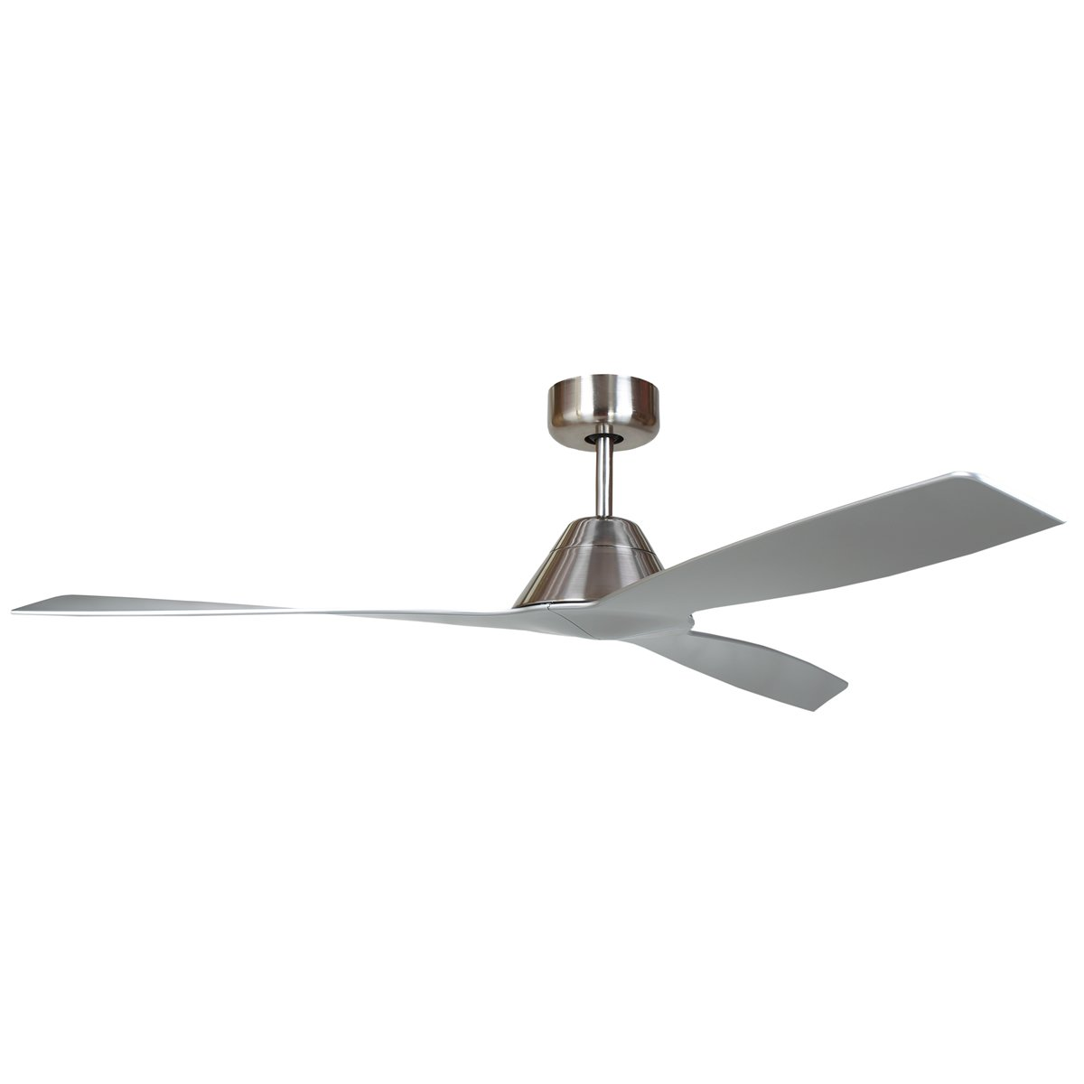 Silver Outdoor Ceiling Fans Forte Silver Ceiling Fan Feature Lights