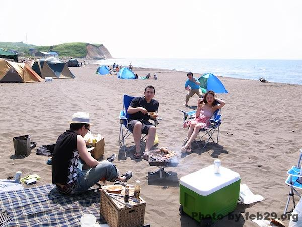 望来の砂浜