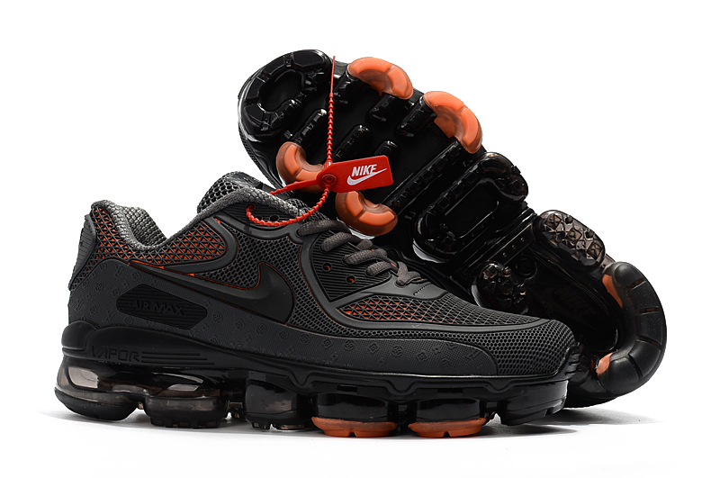 Off White Nike Air Max 2018 90 Kpu Running Shoes Black All