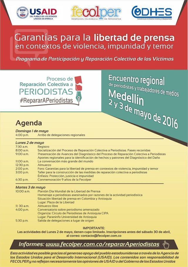 flyer encuentro Medellin