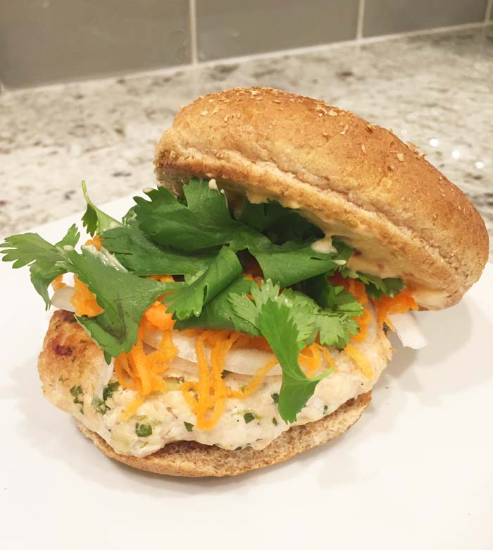 Bahn Mi-Inspired Chicken Burger Recipe | Fed & Fab