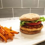 Blue Cheese-Stuffed Buffalo Chicken Burger Recipe