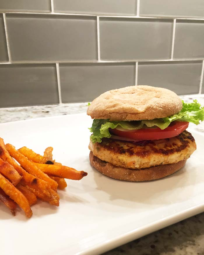 Blue Cheese-Stuffed Buffalo Chicken Burger Recipe | Fed & Fab