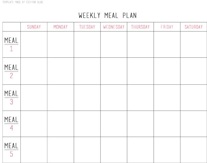 Tips for Healthy Meal Planning and Prepping | Fed & Fab