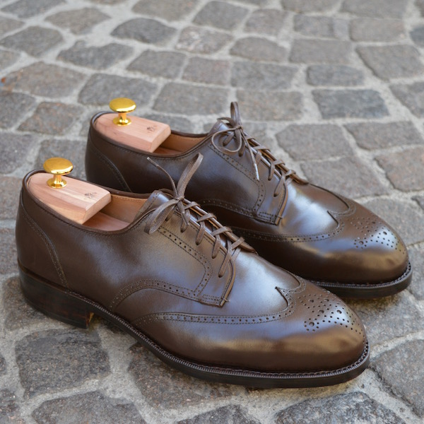 Brown Full-Brogue Derby