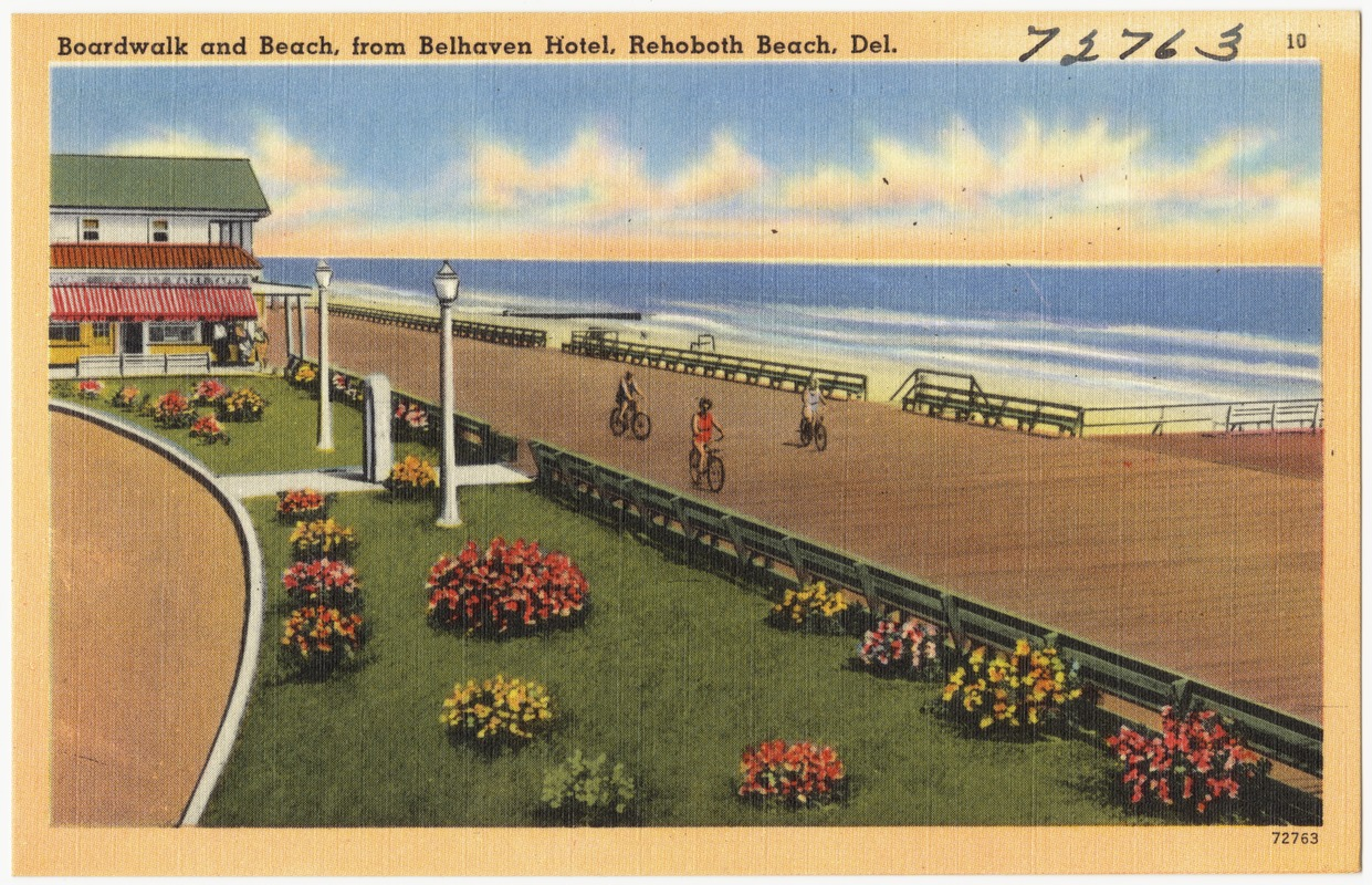 Hotel Rehoboth Boardwalk And Beach From Belhaven Hotel Rehoboth Beach Del