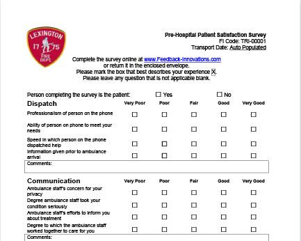 Sample Patient Satisfaction Survey Questions To Improve Your EMS - patient satisfaction survey template