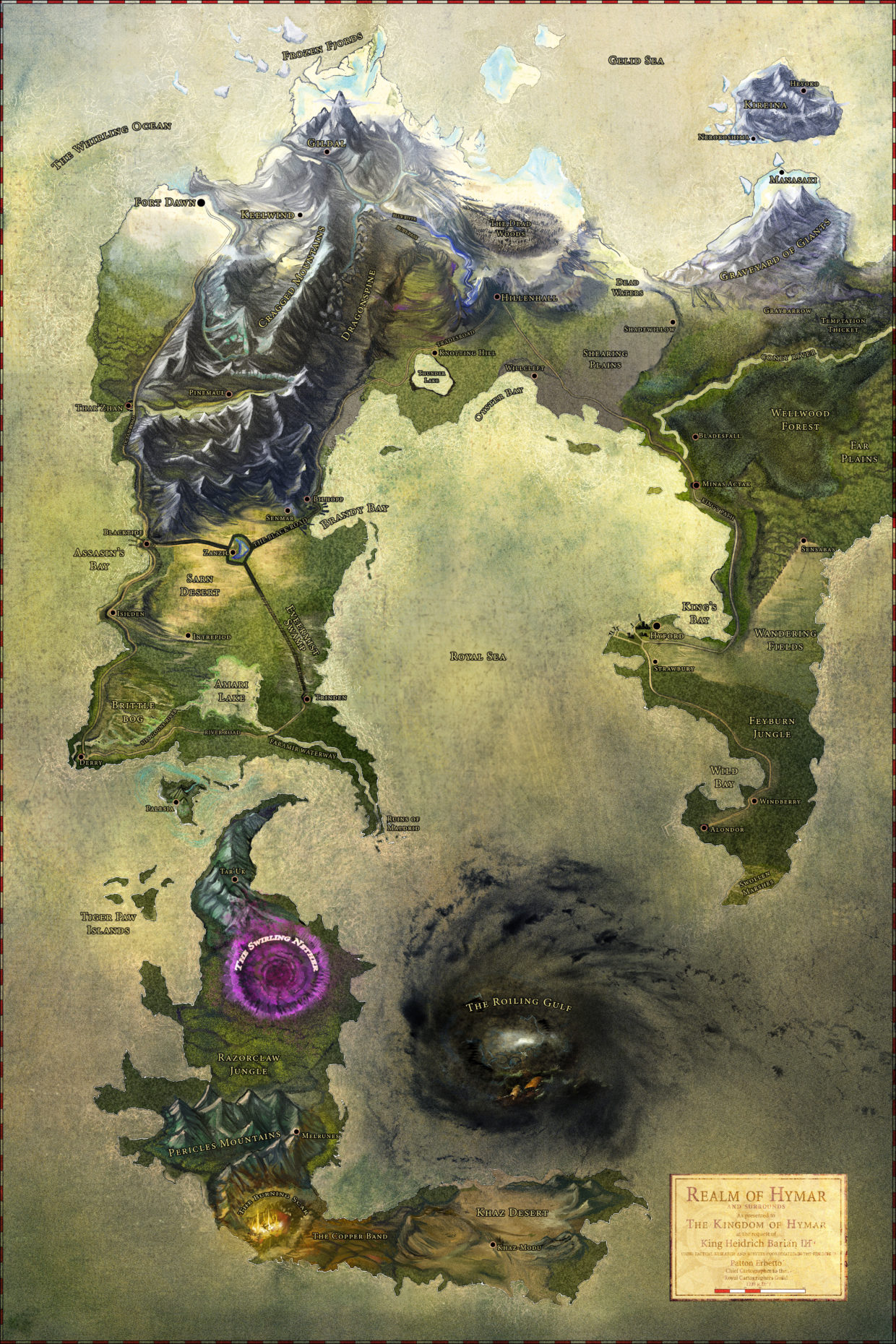Poster Of The World World Of Hymar Dungeons And Dragons Campaign Fully Rendered