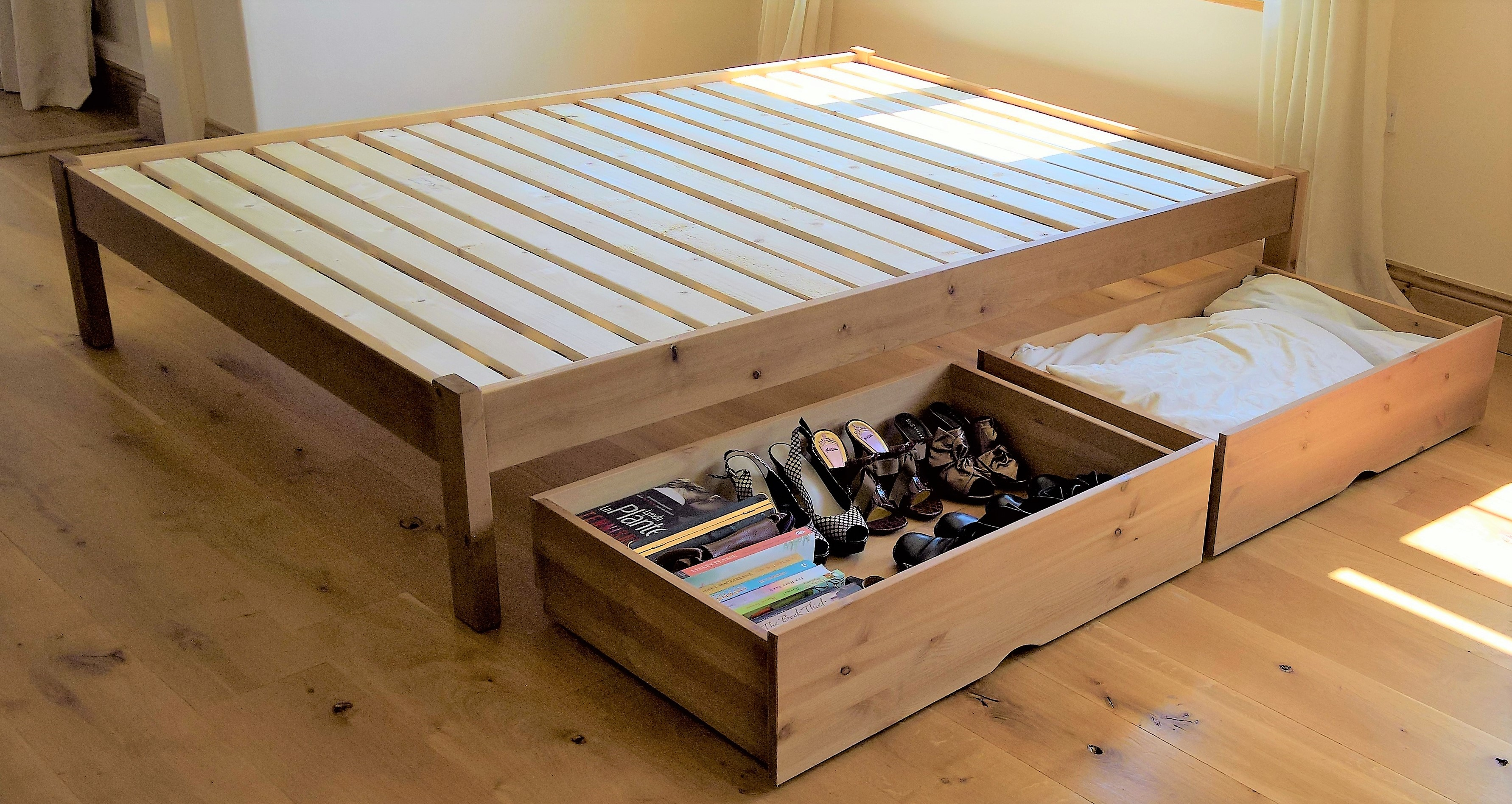 Under Bed Storage Frame Solid Wood Beds With Storage Sale The Test