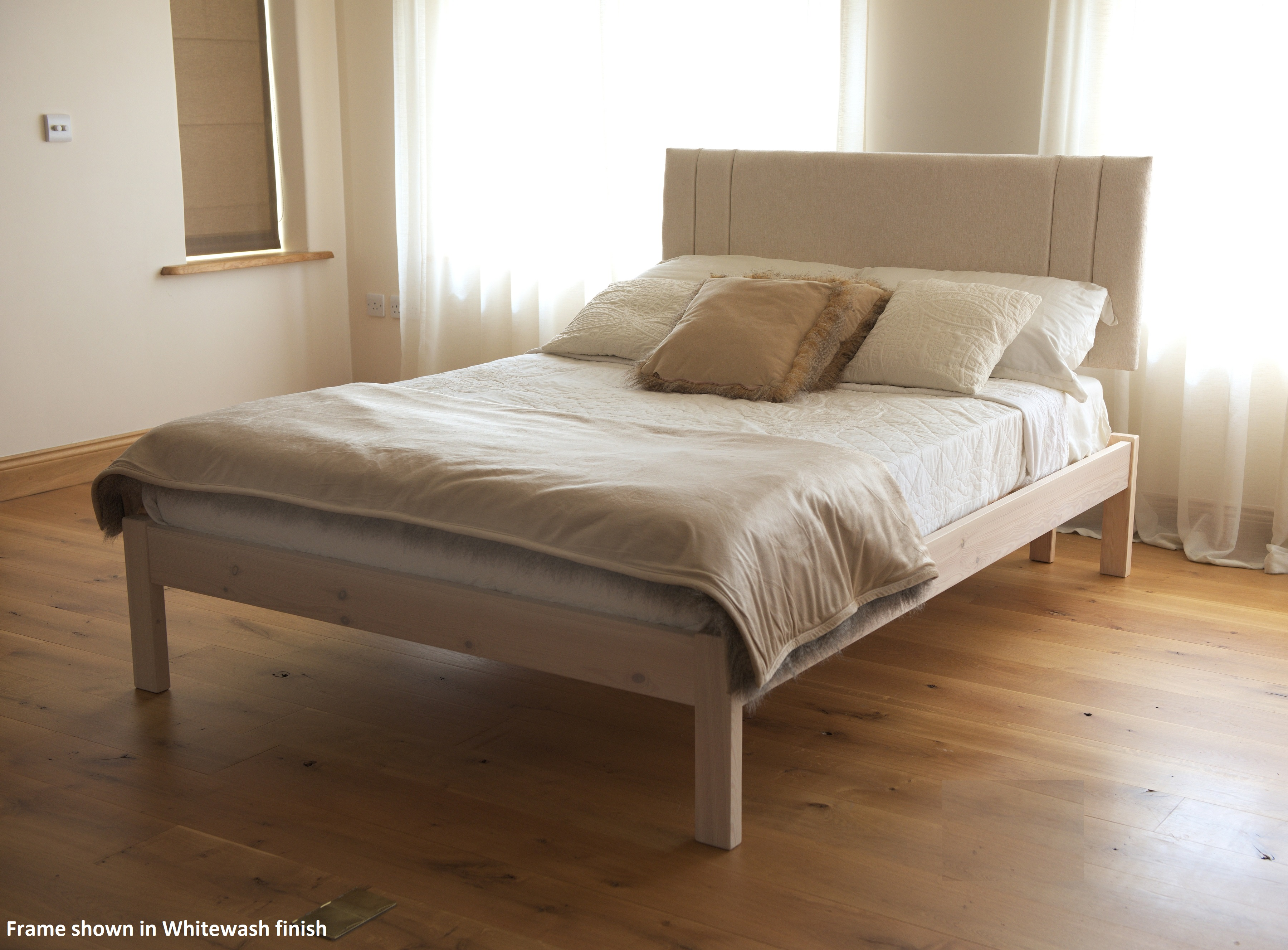 Cheap Wooden Bed Frames The Tyne Handmade Solid Wood Bed Frame