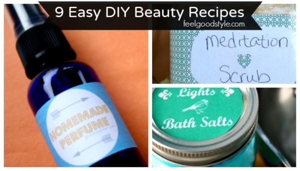 9 Simple DIY Beauty Recipes