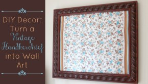diy-decor-turn-a-vintage-handkerchief-into-wall-art