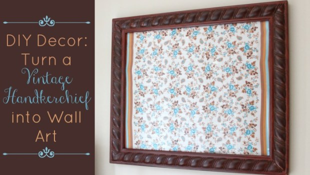 diy-decor-turn-a-vintage-handkerchief-into-wall-art