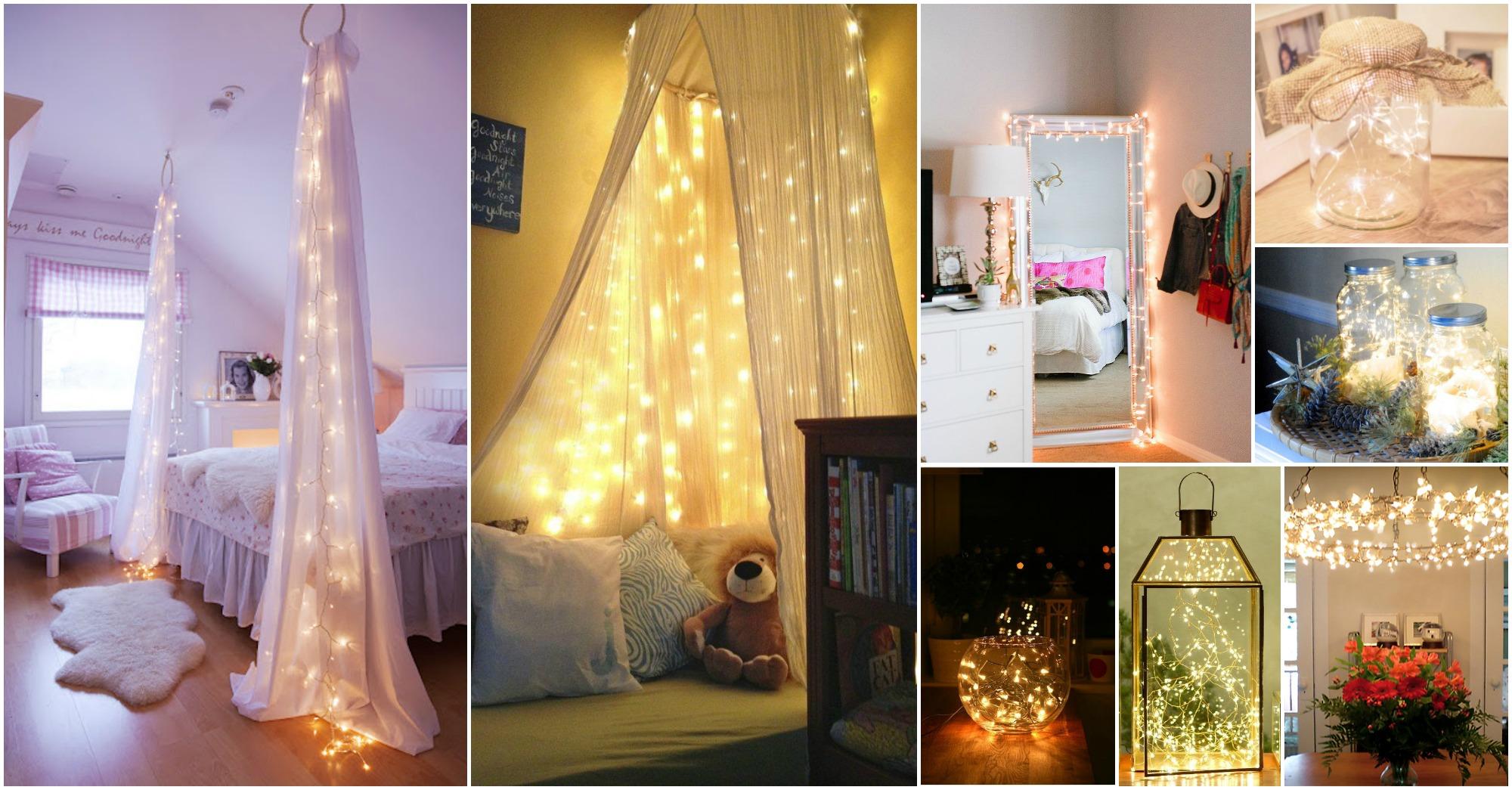 Eye catching christmas fairy lights decor ideas for