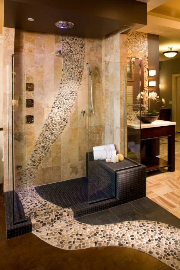 Big Mirror Stand Wonderful Cool Bathroom Tiles That Will Grab Your Attention