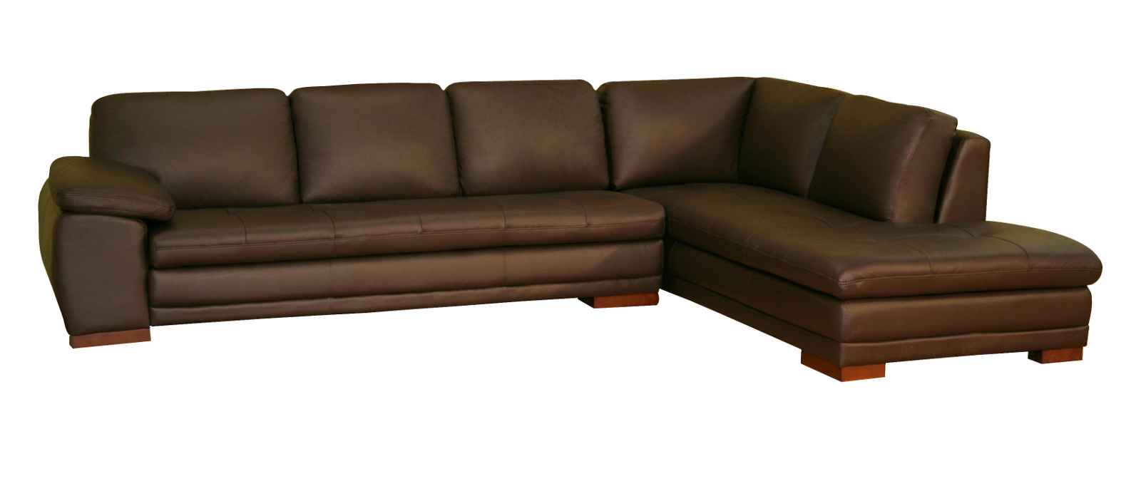 Couches You Sink Into Brown Leather Sectional Sofa | Feel The Home