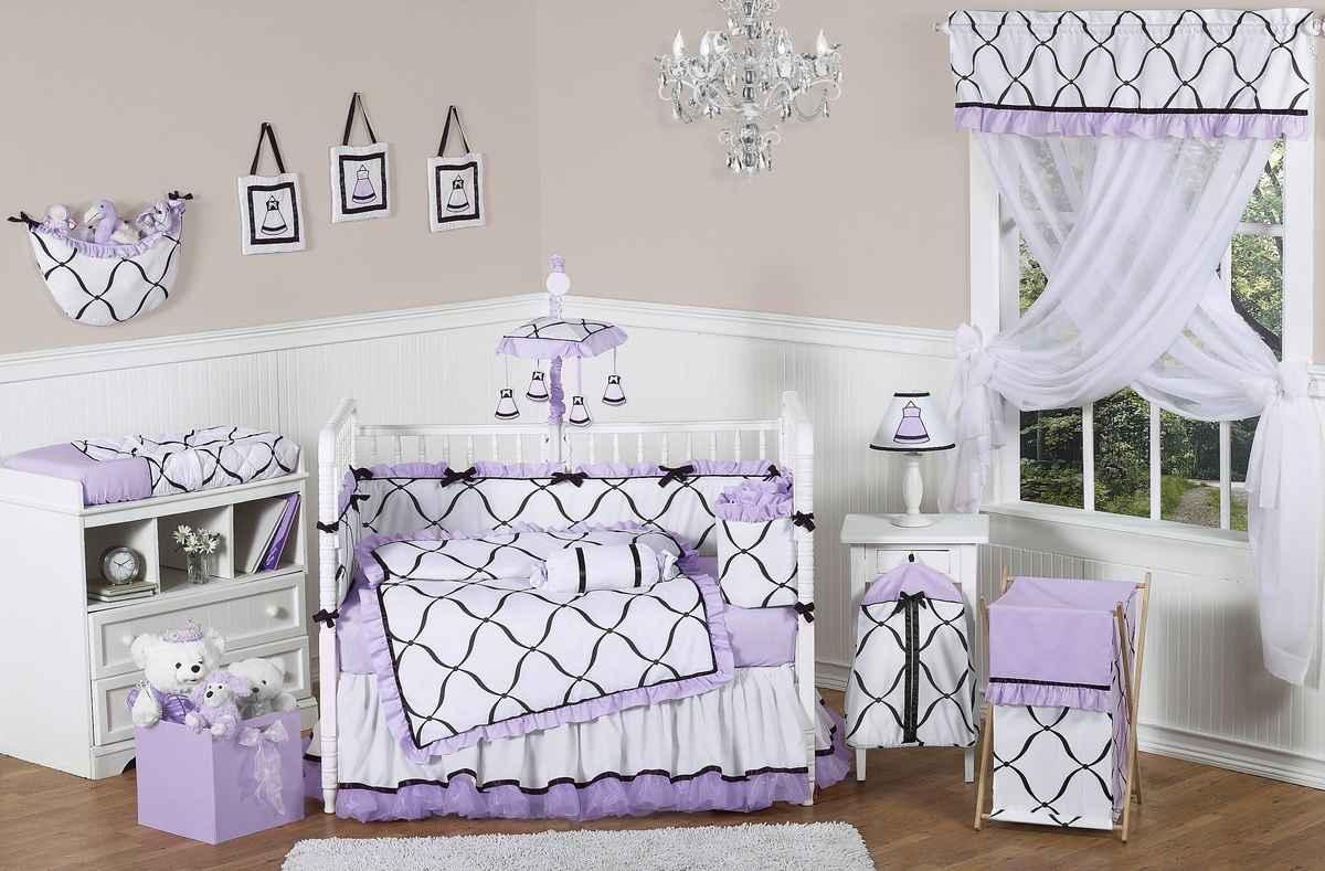 Purple Baby Crib Bedding Set Feel The Home