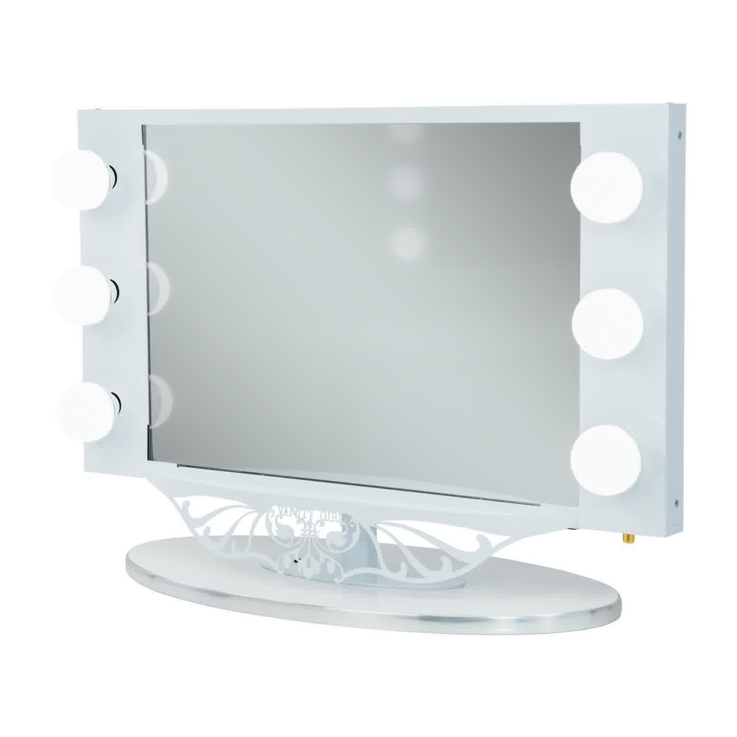 Makeup Vanities With Lighted Mirrors Starlet Lighted Vanity Mirror In Simple Frame Design