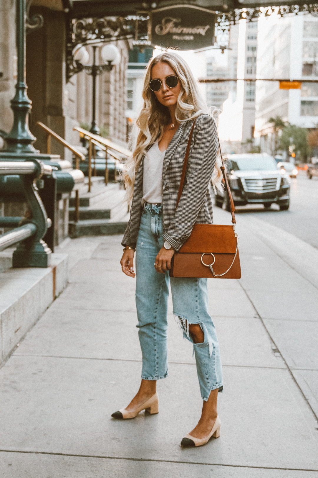 Outfits Mit Blazer Outfit Checked Blazer The Trend Piece Of This Fall