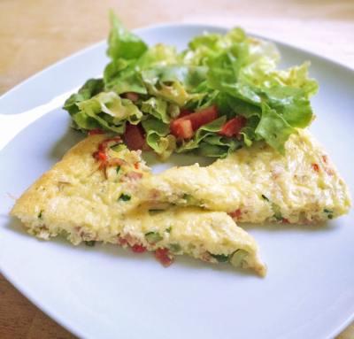 3,2,1 – fertig: Gemüse Frittata mit Käse