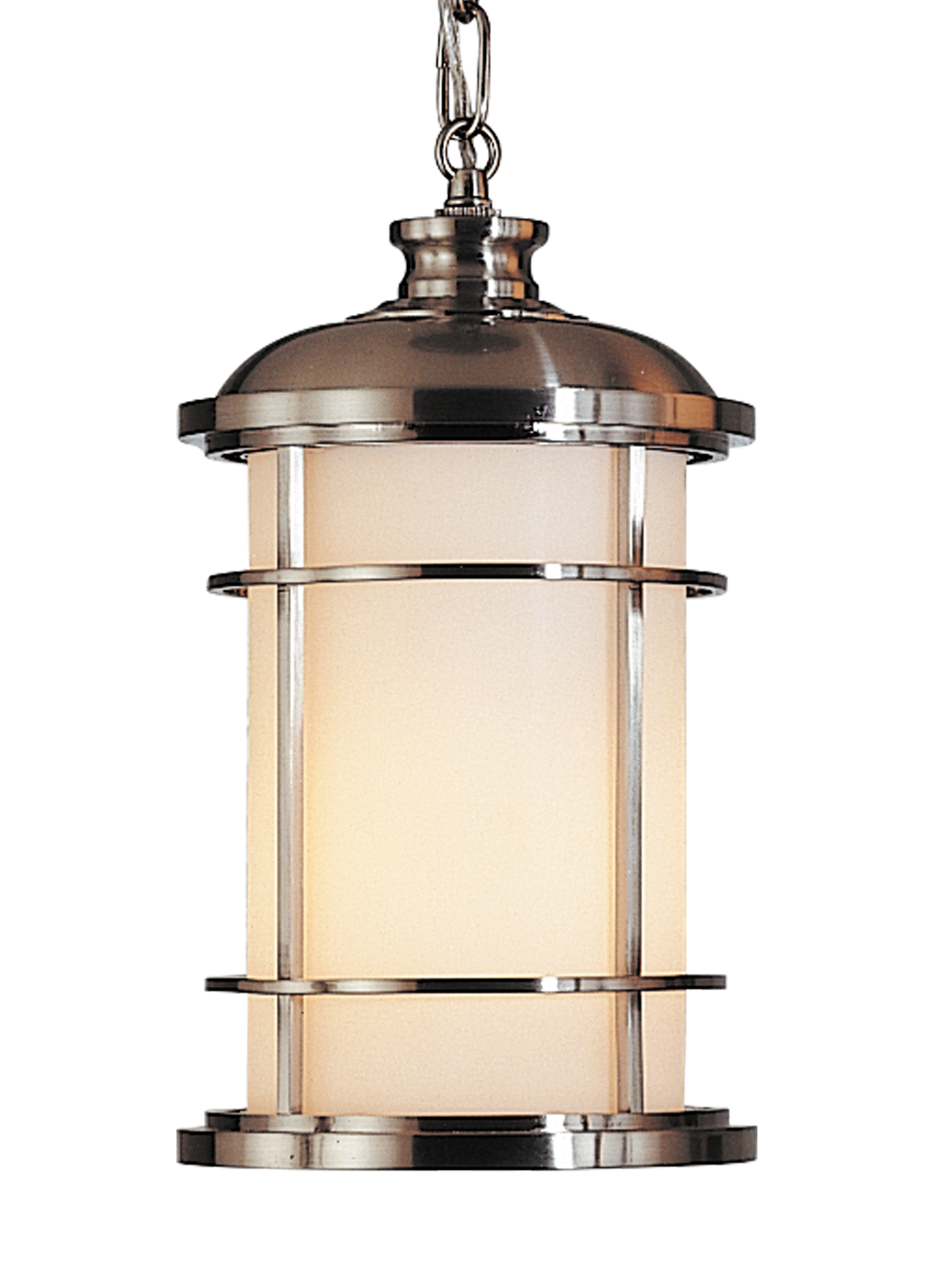 Outdoor Hanging Lamps Details About Brushed Steel Lighthouse 1 Light Led Outdoor Hanging Pendant W Etched Glass