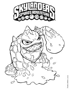 Sklyanders coloring pages