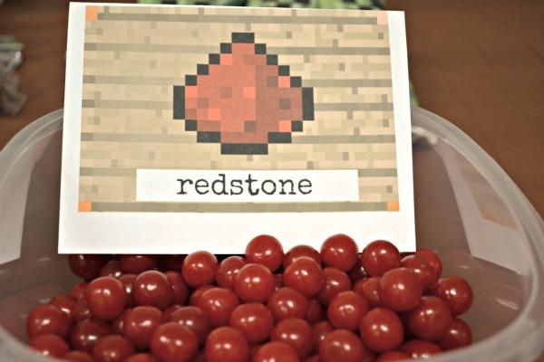 minecraft redstone party treat idea