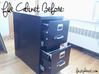 File Cabinet Makeover Contact Paper | Mail Cabinet
