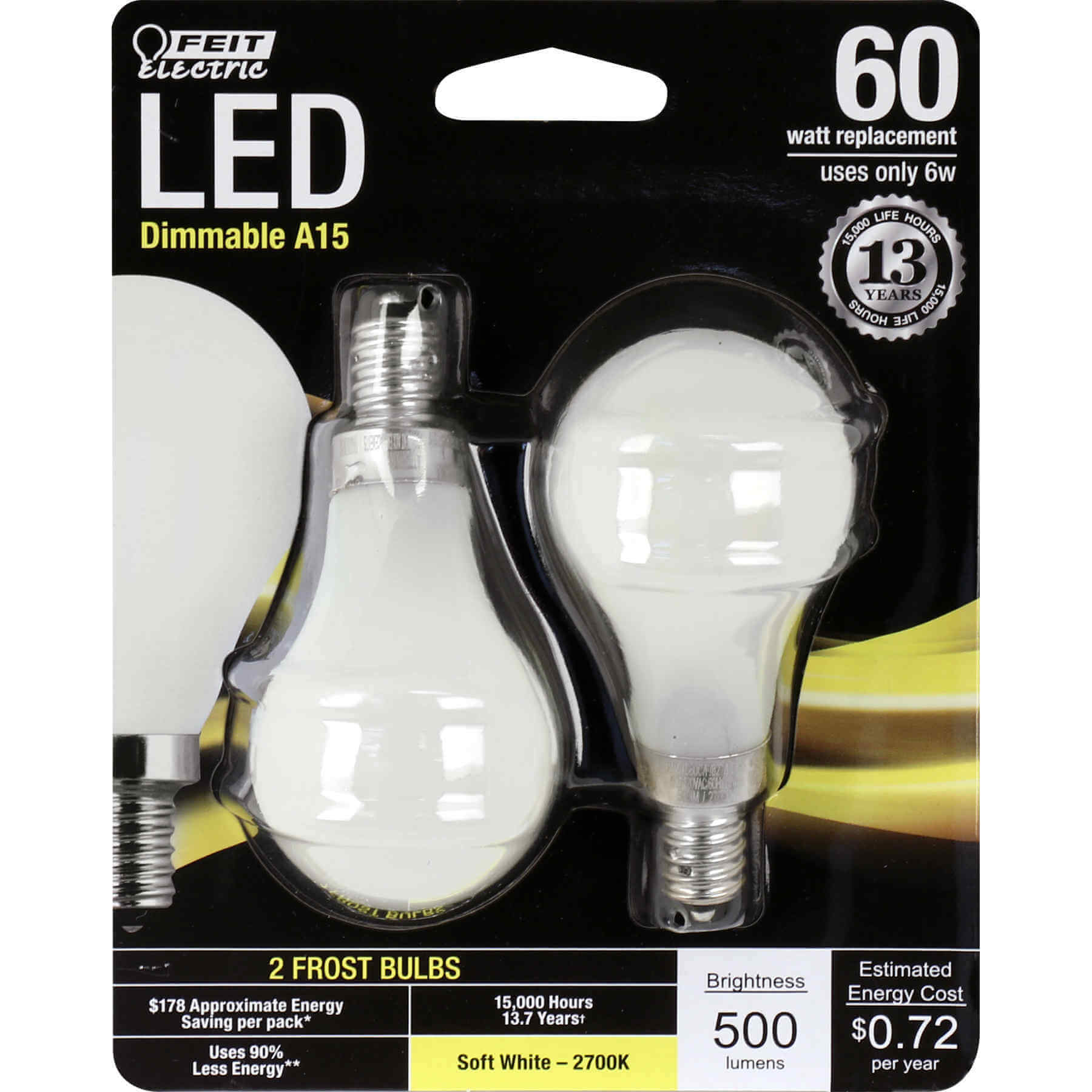 500 Lumen Is Hoeveel Watt 500 Lumen 2700k Dimmable Led Feit Electric