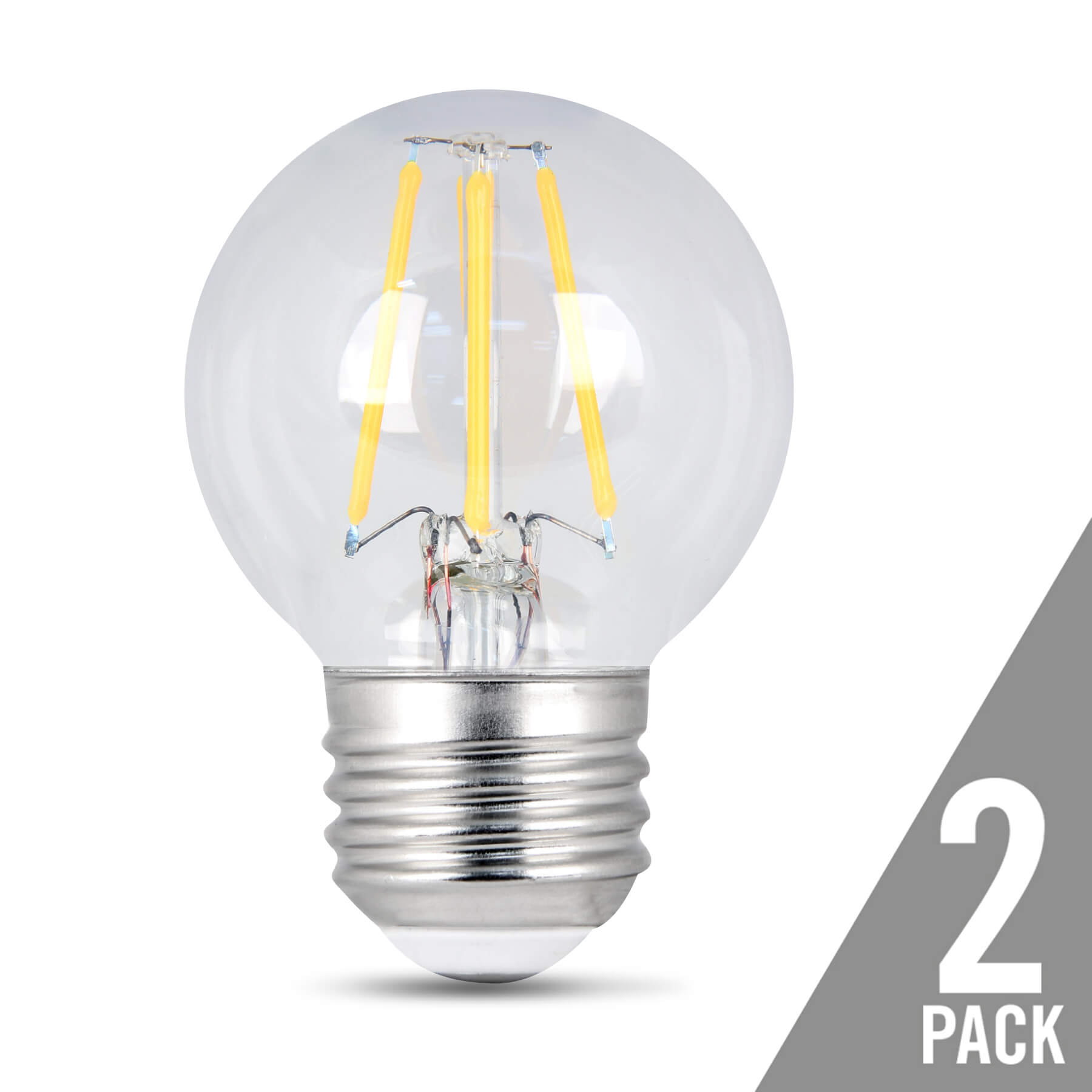 Where Can I Get Light Bulbs 300 Lumen Vintage 2700k Dimmable Led G16 1 2 Feit Electric