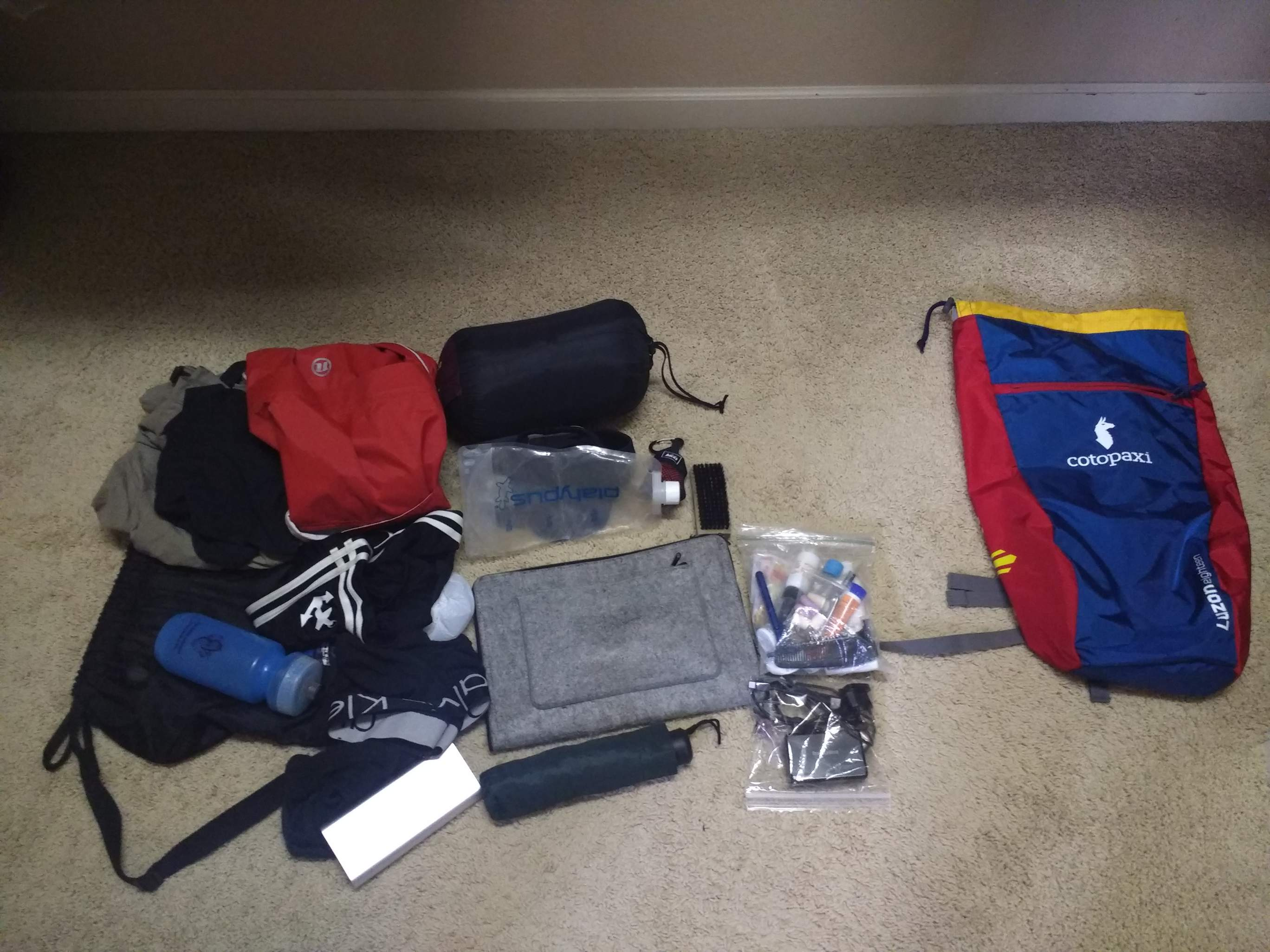 Camino Santiago Packing List Ultralight Travel My Packing List For 6 Weeks In Spain