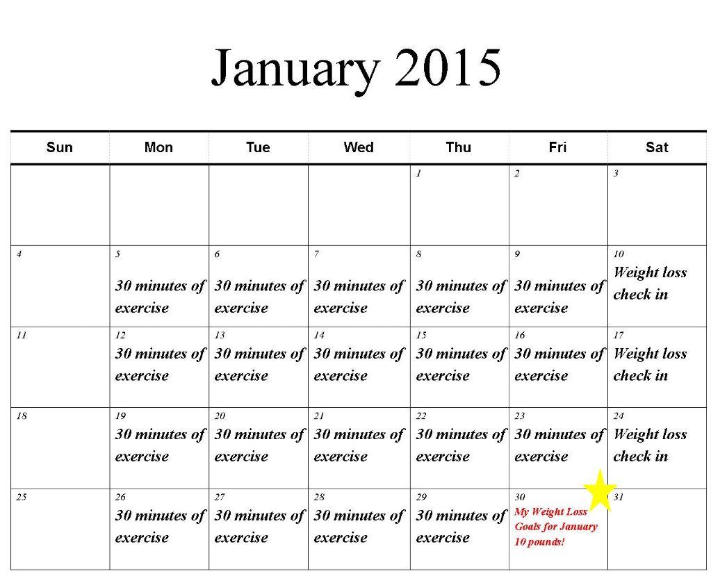 Weight Loss Calendar Printable  Printable November 2020