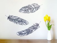 Feather wall decals  large