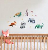 Animal Mix Fabric Wall Decal | Felt
