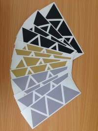 Removable Triangle Wall Stickers | Felt
