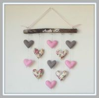 Felt and Floral Hearts Wall Hanging | Felt
