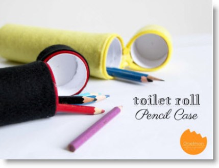 Toilet Roll Pencil Case with Felt