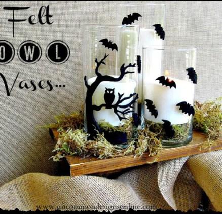 Felt Owl Vases