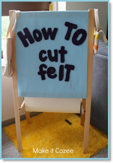 How to cut felt