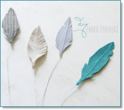 fabric feathers