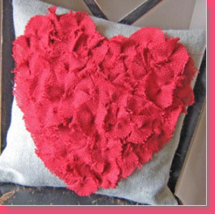Candy Box Heart pillow