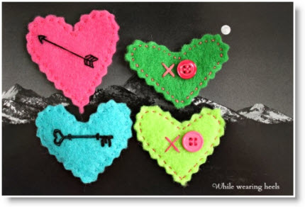 Embroidered Felt Heart Tutorial