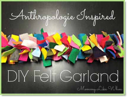 Anthropologie Inspired DIY Felt Garland