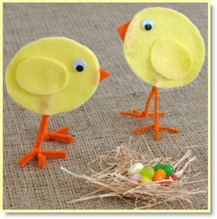 Cinderella's Tabletop Easter Chicks
