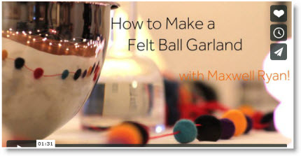 One Minute Tip, How to Make Felt Ball Garland