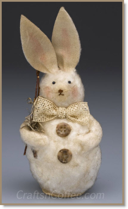 Primitive Felted Bunny