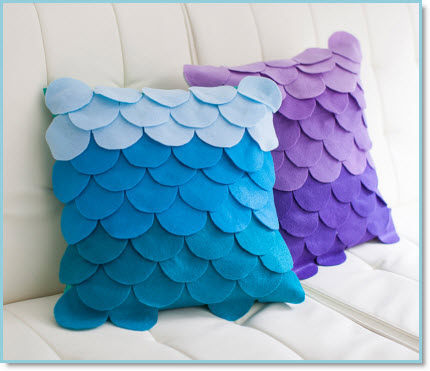Scalloped Ombre Pillows