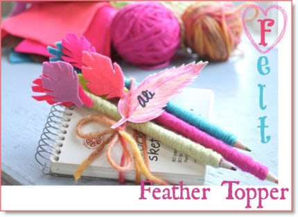 Feather topper pencils